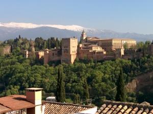 Granada skyline Alhambra