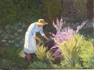 Chantal in the Garden. Orrick.